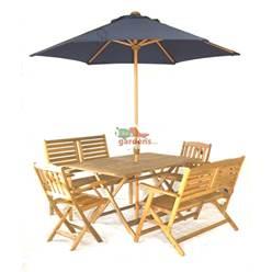 6 Seater, Folding Napoli 150cm x 90cm Table, 2 x Turnbury Folding Arm Chair + 2 x Atlantic 2 Seater Benches plus FREE WOOD MAINTENANCE KIT + OIL