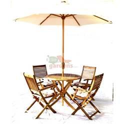 4 Seater Set: 1 x Manhattan 100 Round Folding Table Set, 4 x Turnbury Folding Arm Chairs