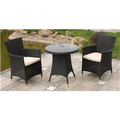 BROWN CANNES FIXED BISTRO SET