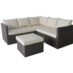6 Seater CANNES MOCHA BROWN CORNER SET - Free Next Working Day Delivery (Mon-Fri)