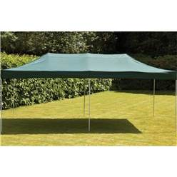 POP UP STEEL WATERPROOF GAZEBO - GREEN - 3X6M - Free Next Working Day Delivery (Mon-Fri)