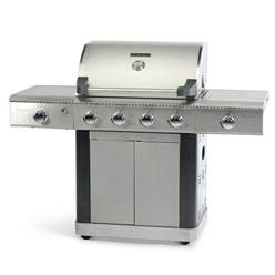 PLATINUM 600 DELUXE 4 BURNER GAS BBQ WITH SLIDING SIDE BURNER & SEARING BURNER - Free Next Working Day Delivery (Mon-Fri)