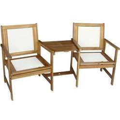 2 Seater HENLEY PADDED TEXTYLENE Companion Set  Golden Sand Textylene - Free Next Working Day Delivery (Mon-Fri)