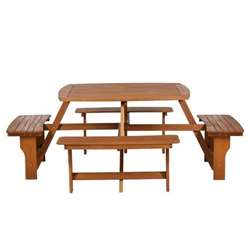 8 Seater - Sacramento Picnic Bench - Free Next Working Day Delivery (Mon-Fri)