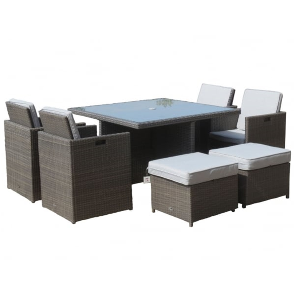 8 Seater 9 Piece Marlow Deluxe Cube Set 125cm Square