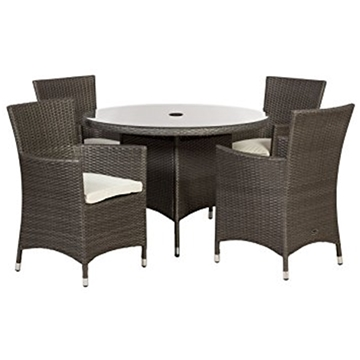 4 seater 5 piece marlow round dining set 110cm round for 110cm round glass dining table